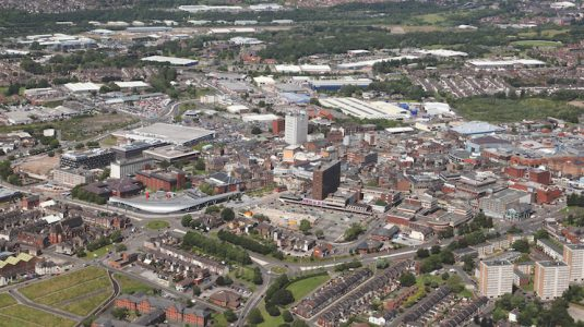 aerial-skyline-view-of-the-Potteries-town-Stoke-on-Trent