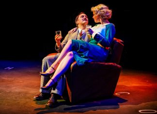 Isaac-Stanmore-Rebecca-Brewer-The-39-Steps-New-Vic-Theatre