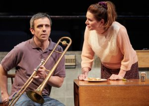 william-fox-and-susie-emmett-in-brassed-off-at-the-new-vic-theatre