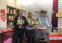 Cllr-Carl-Edwards-and-Longton-market-trader-Andrea-Dulson