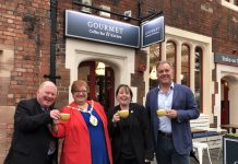 cllr-abi-brown.lord-mayor-jackie-barnes-steve-copner-gourmet-coffee-bar-at-stoke-station