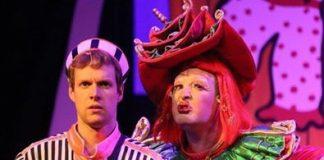 Liam-Burton-as-Aladdin-and-Paul-Deakin-as-Widow-twankey-Aladdin-Panto-Mitchell-Arts-Centre-2019