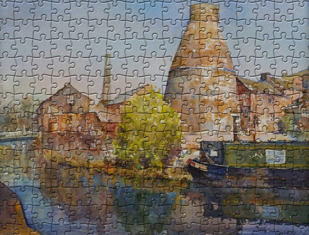 Price-and-Kensington-Watercolur-jigsaw-by-geoffrey-wynne-RI-at-Barewall-Art-Gallery