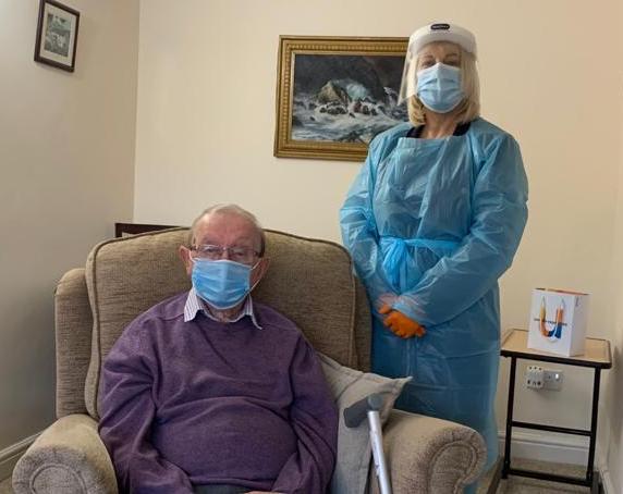 Ivan-Sutton-with-Karen-Mallaburn-of-Ridgways-Hearing-Care