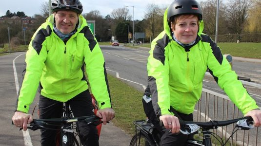 Bikeability Instructors and Cyclists Trevor Craven and Rosie Hunt (1) – Resized