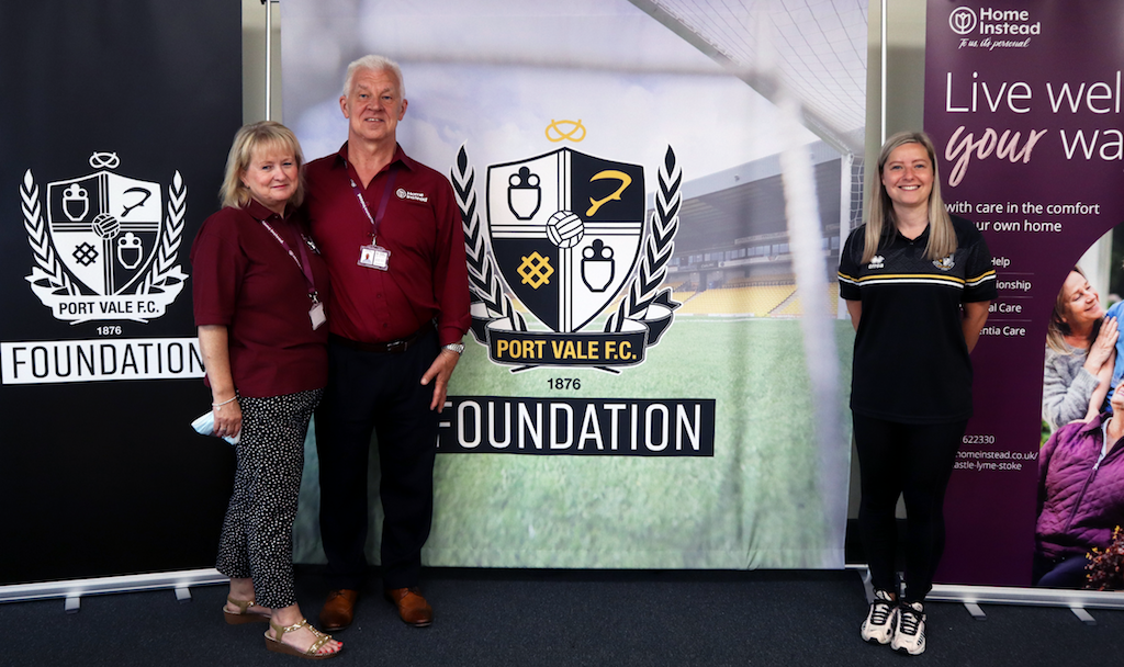 Sandra-and-Paul-Edden-Homeinstead-with-Chloe-Hicks-Port-Vale-Foundation